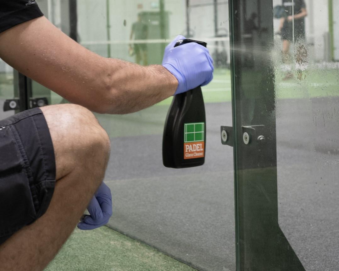 padel glass cleaner rengöring padelglas unisport