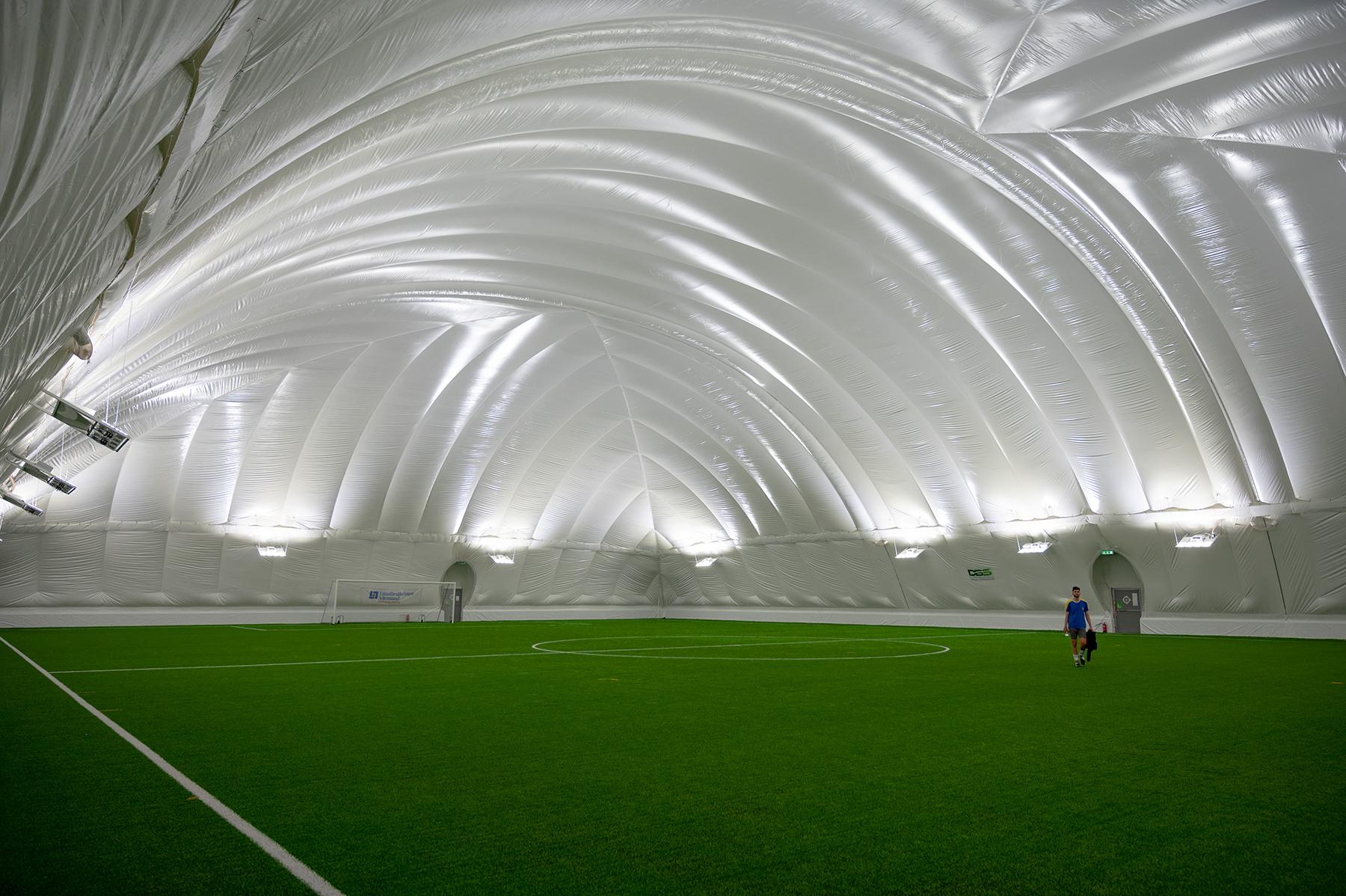 unisport airdome fotbollshall konstgräs fotboll