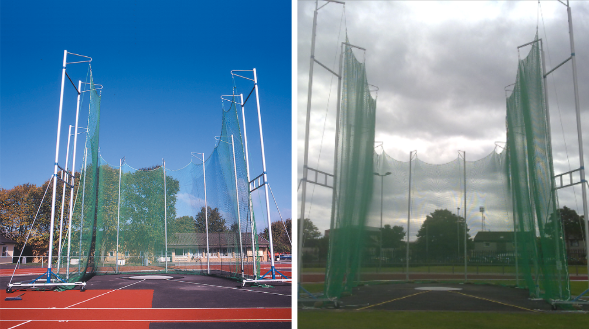 Outdoor Athletics Throwing Cage for hammer and discus by unisport