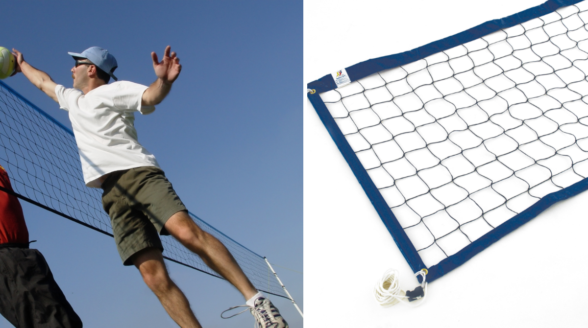 8.5m Blue Edge Beach Volleyball Net by Unisport