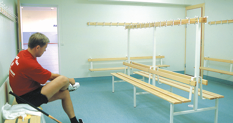 Double Sided Changing Bench with hooks by Unisport