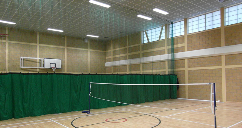 Manually Operated Sports Hall Divisional Curtains by Unisport