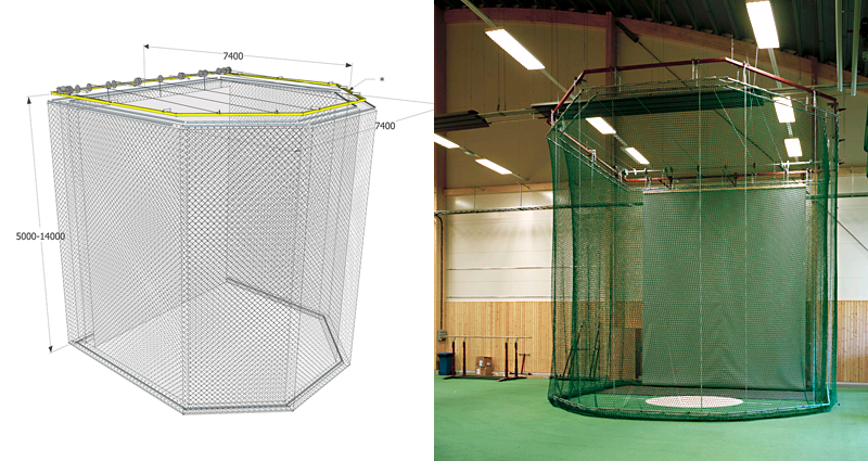 Motorised Throw Cage Indoor by Unisport