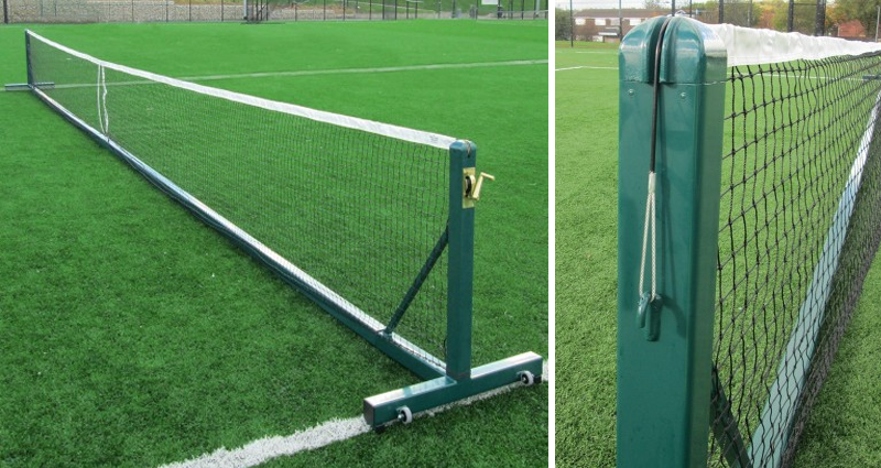 Outdoor Freestanding Tennis Posts by Unisport