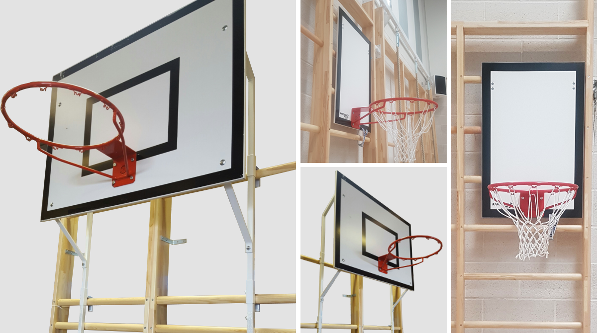 Practice Basketball Goal for Wall Bars by Unisport
