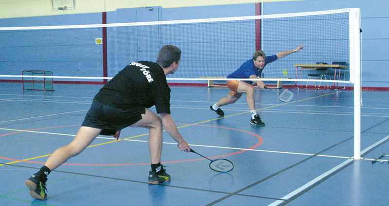 Socketed Badminton Posts by Unisport