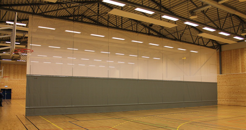 Sports Hall T500 Scrim Motorised Divider by Unisport