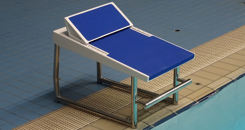 Swimming Footrest Starting Block Tube Frame For Freeboard Pool by Unisport