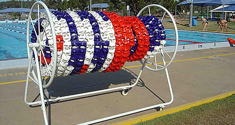 Swimming Pool Lane Ropes Storage Reel Unisport