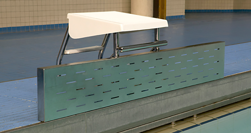 Swimming Pool Staintless Steel Deck Level Turning Board by Unisport