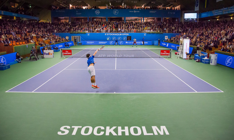 Greenset tennis surface Stockholm Open Unisport