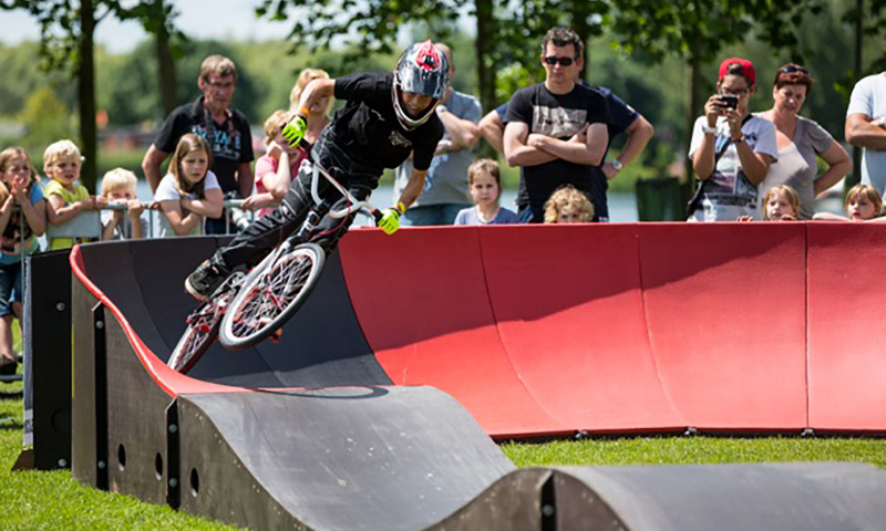 pumptrack, pumptracks, aktivitetsbanor, unisport, modular pumptrack