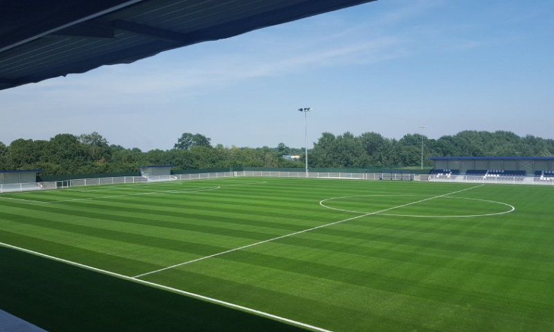 artificial turf grass saltex drop unisport parkside aveley football club england