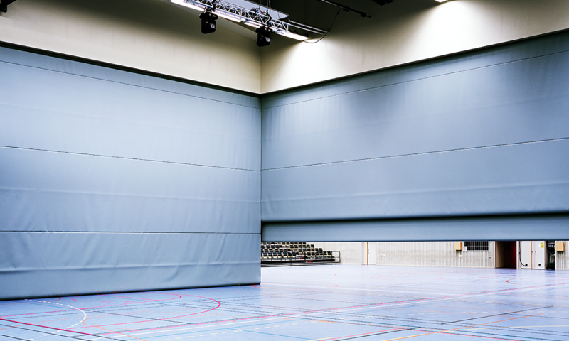 Hall Dividing Solutions Motorised Walls by Unisport